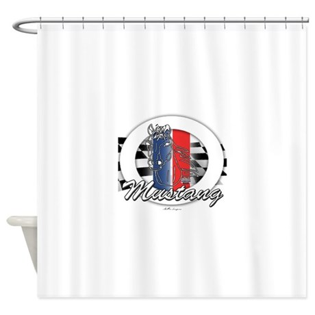 Horse Mustang Shower Curtain By Originalautomobile