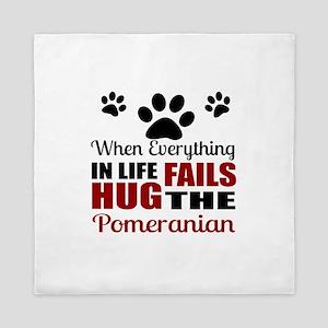 Hug The Pomeranian Queen Duvet