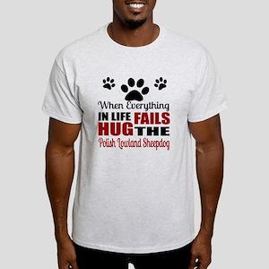 Hug The Polish Lowland Sheepdog Light T-Shirt