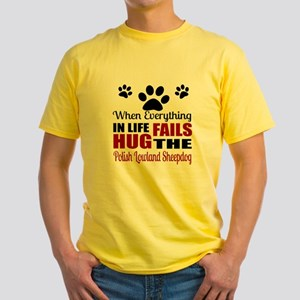 Hug The Polish Lowland Sheepdog Yellow T-Shirt