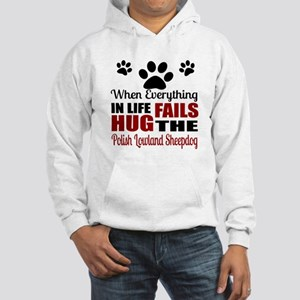 Hug The Polish Lowland Sheepdog Hooded Sweatshirt