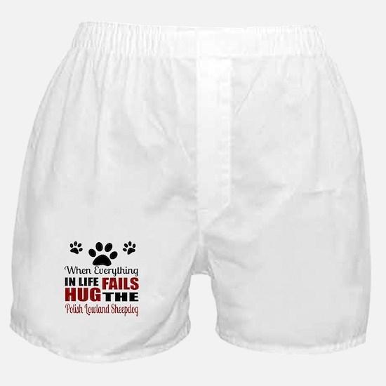 Hug The Polish Lowland Sheepdog Boxer Shorts