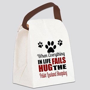 Hug The Polish Lowland Sheepdog Canvas Lunch Bag