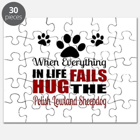 Hug The Polish Lowland Sheepdog Puzzle