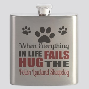 Hug The Polish Lowland Sheepdog Flask