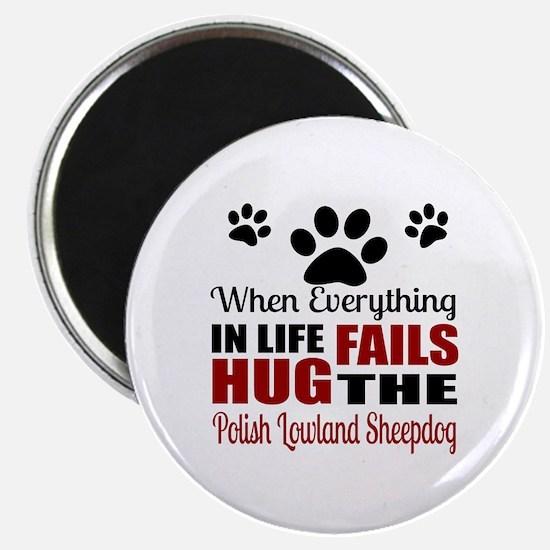 Hug The Polish Lowland Sheepdog Magnet