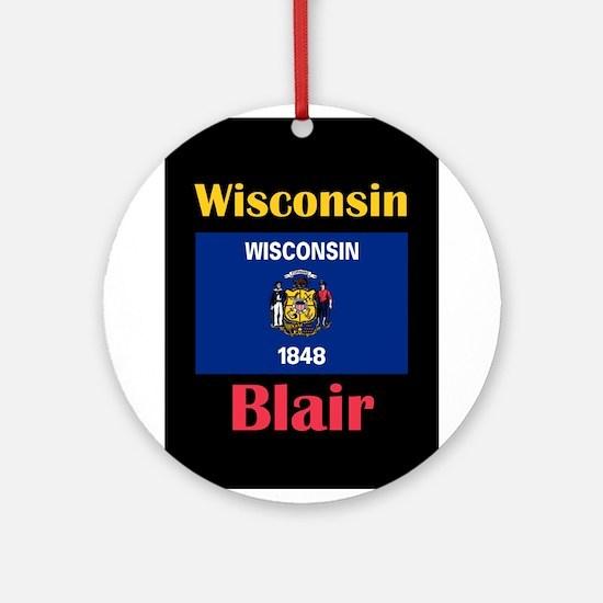 Blair Wisconsin Round Ornament