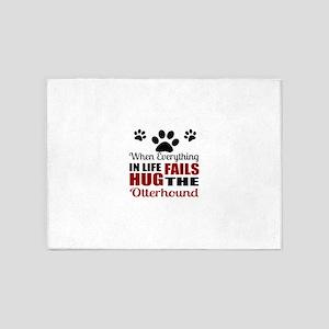 Hug The Otterhound 5'x7'Area Rug