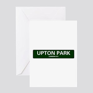 LONDON ROAD SIGNS - UPTON PARK - LO Greeting Cards