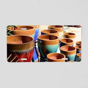 Coloured garden plant pots Aluminum License Plate