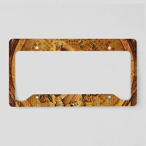Golden harp on wonderful vintage background Licens