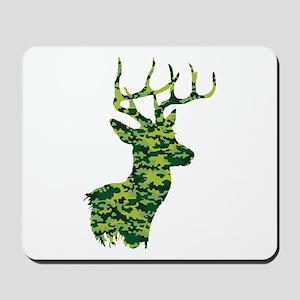 Green Camo Deer Mousepad