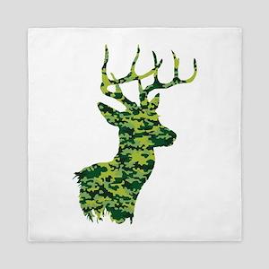 Green Camo Deer Queen Duvet