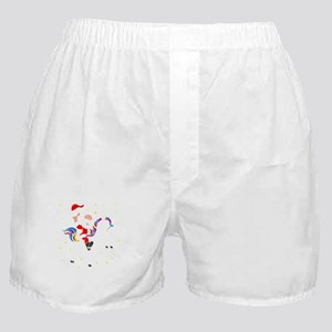 Christmas Unicorn Boxer Shorts