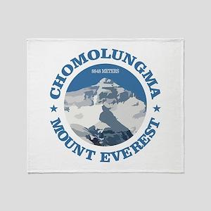 Chomolungma (Mount Everest) Throw Blanket