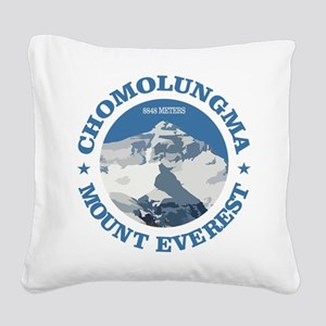 Chomolungma (Mount Everest) Square Canvas Pillow