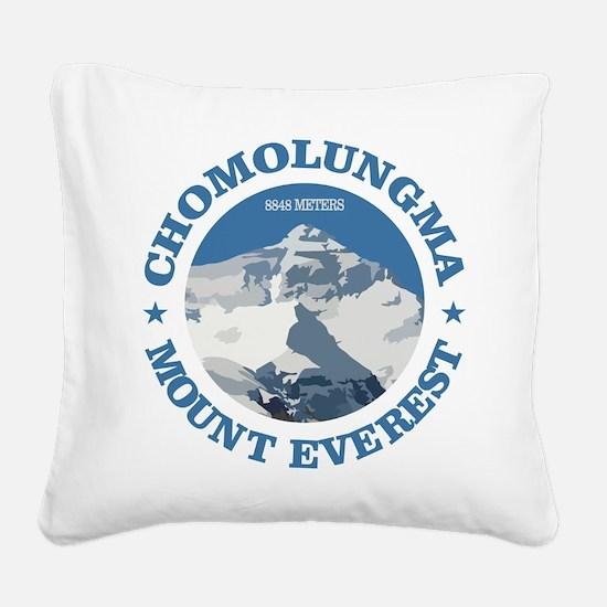 Chomolungma (Mount Everest) Square Canvas Pillow