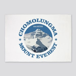 Chomolungma (Mount Everest) 5'x7'Area Rug