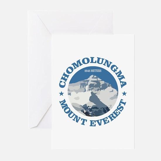 Chomolungma (Mount Everest) Greeting Cards