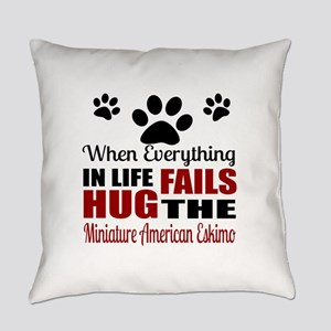 Hug The Miniature American Eskimo Everyday Pillow