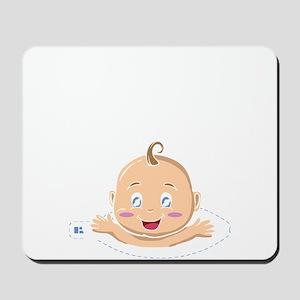 Peek A Boo Baby Mousepad