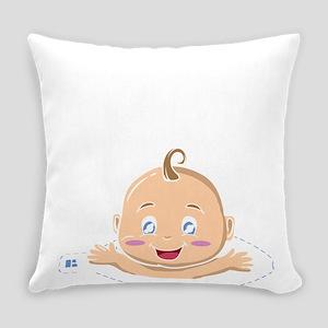 Peek A Boo Baby Everyday Pillow