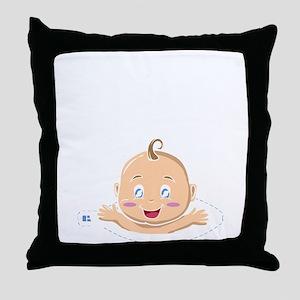 Peek A Boo Baby Throw Pillow