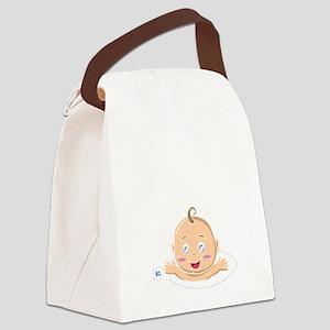 Peek A Boo Baby Canvas Lunch Bag