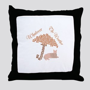 Cute Funny Whatever the Weather Red Cat Throw Pill