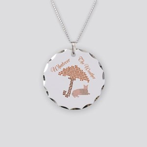 Cute Funny Whatever the Weather Red Cat Necklace