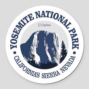 Yosemite 2 Round Car Magnet