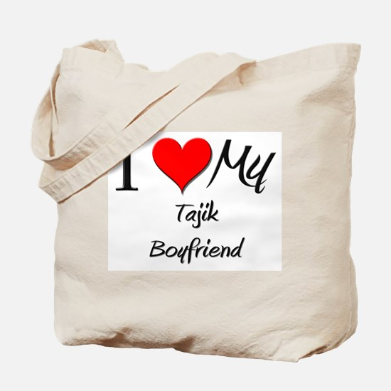 I Love My Tajik Boyfriend Tote Bag
