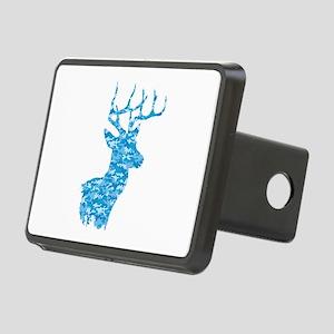 Blue Camo Deer Hitch Cover