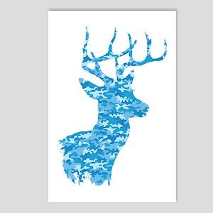 Blue Camo Deer Postcards (Package of 8)
