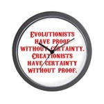Evolutionists have proof with Wall Clock