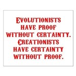 Evolutionists have proof with Small Poster