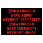 Evolutionists have proof with Large Poster