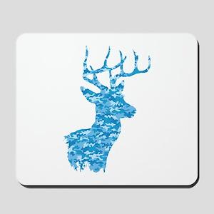 Blue Camo Deer Mousepad