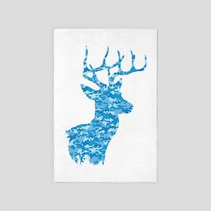 Blue Camo Deer 4' x 6' Rug