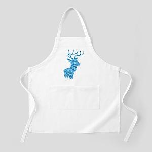 Blue Camo Deer Light Apron