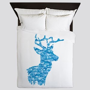 Blue Camo Deer Queen Duvet