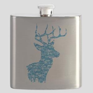 Blue Camo Deer Flask