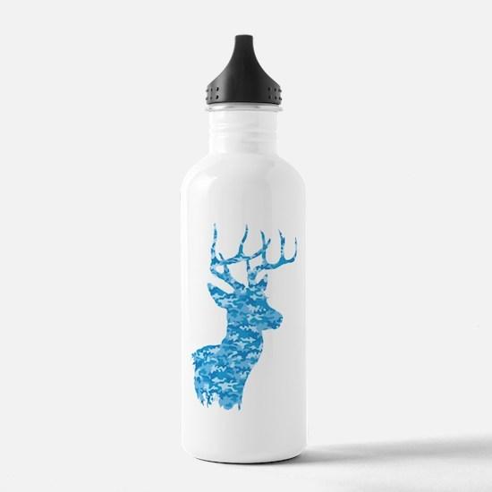Blue Camo Deer Water Bottle