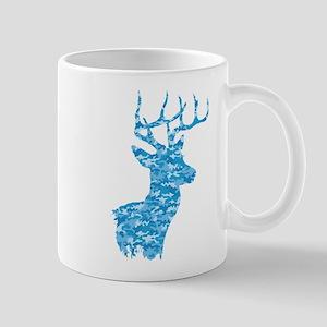 Blue Camo Deer Mugs