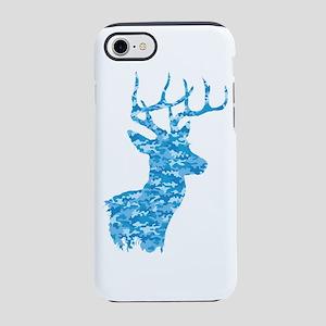 Blue Camo Deer iPhone 8/7 Tough Case