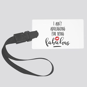 Fabulous Girly Lipstick Quote Large Luggage Tag