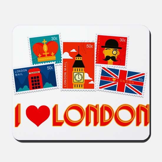 I love London Stamps Mousepad