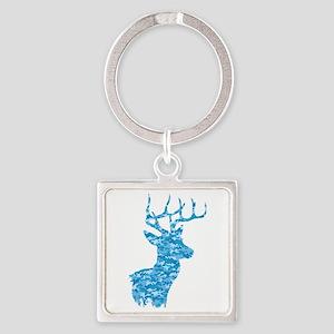 Blue Camo Deer Keychains