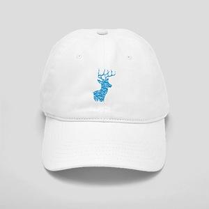 Blue Camo Deer Baseball Cap