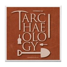 Archaeology Red Tile Coaster